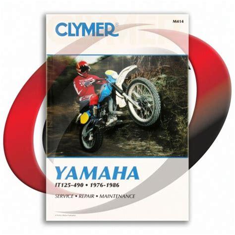 1977 1983 Yamaha IT175 Repair Manual Clymer M414 Service Shop Garage