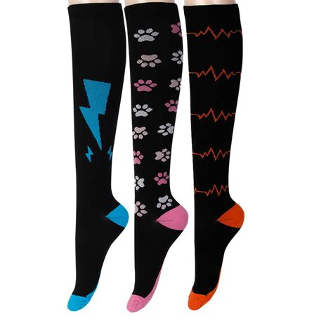 1Pair Knee High Graduated Compression Socks Men Women Stocking Fit for
