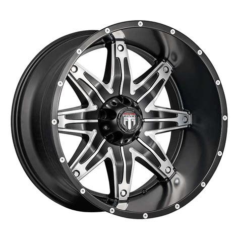 4 American Truxx AT185 Lonestar 22x12 5x150 44 Black Milled Wheels Rim