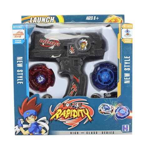 4D Beyblade Set Fusion Top Metal Rapidity Masters Launcher Grip Kids T
