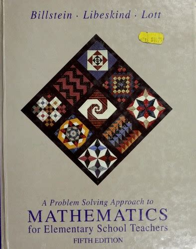 A Problem Solving Approach to Mathematics for Elementary School Teache