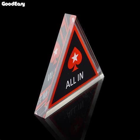 Acrylic Texas Holdem Poker Chip Triangle Poker Card Guard Casino Suppl