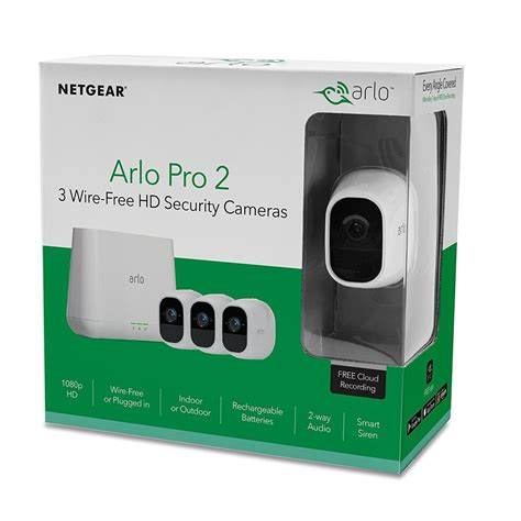 Arlo Pro 2 Wire Free HD Security Camera VMS4330P 100NAS 3 Pack