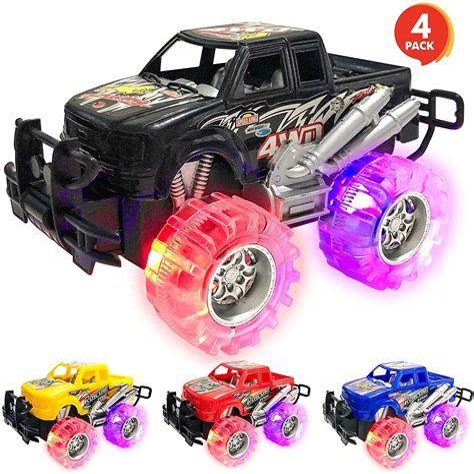 ArtCreativity Light Up Monster Truck Set for Boys and Girls Set Includ