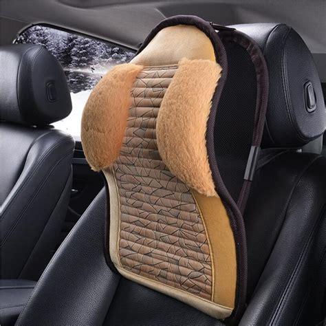 Car leather headrest neck pillow Head Neck Rest Pillow Memory Foam Car