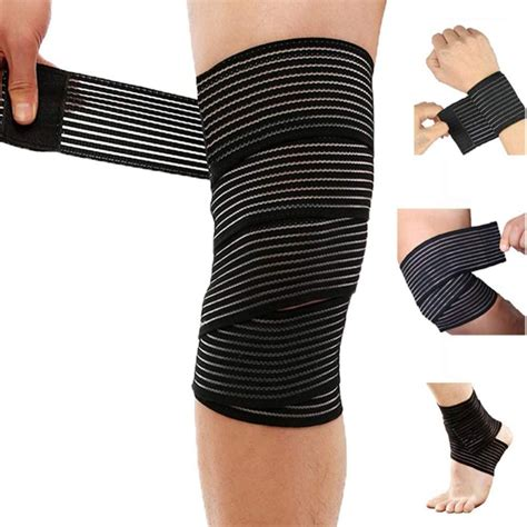 Extra Long Elastic Compression Knee Brace Wrap for patellar Tendon Sup