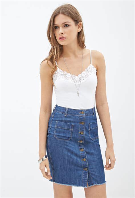 Forever 21 Button down denim mini skirt size 28