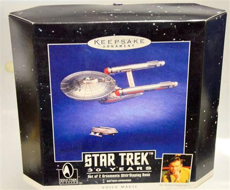 Hallmark Keepsake Ornament Star Trek 30 Years 2 Ornaments w Display Ba