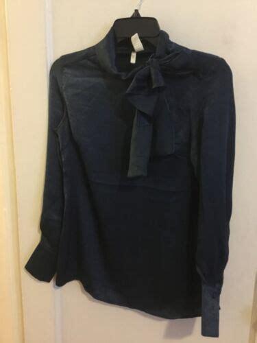 Japna Women Blue Long Sleeve Blouse XS
