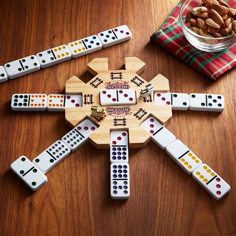 Mexican Train Dominoes Puzzles Classic Board Games Box Set For Family