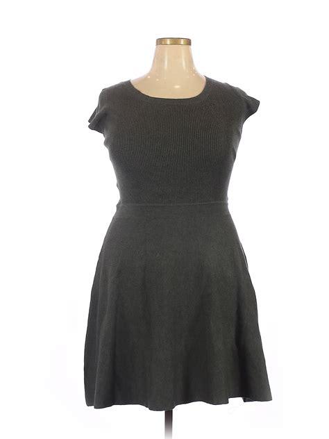 Mossimo Women Gray Casual Dress XL