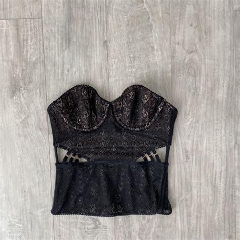 NEW Victorias Secret 32A Corset A70 Bustier straps Bra sexy Black Lace