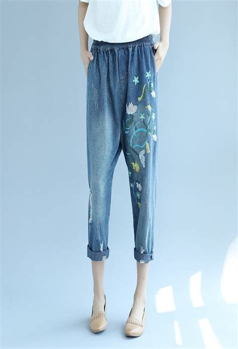 Nancy K Plus Embroidered Light Denim Casual Dress Sz L