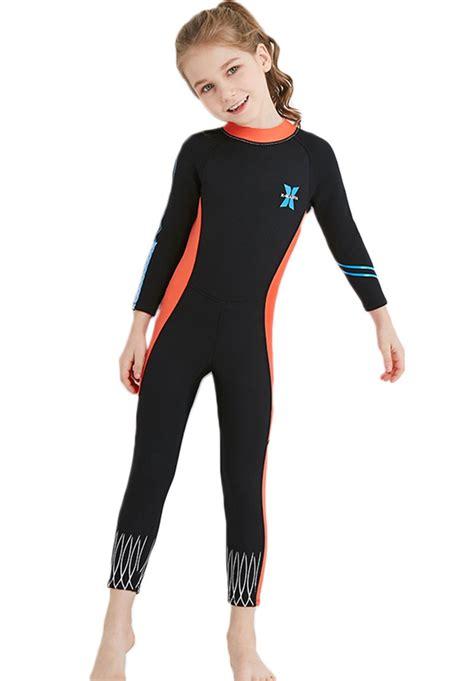 Neoprene Swimsuit Girls Boys 2 5mm Thickness Premium Short Long Back Z