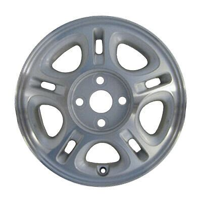 OEM 14X5 5 Alloy Wheel Sparkle Charcoal Acrylic Textured w Machined Fa