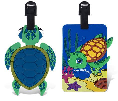 Puzzled Taggage Plastic Diving Sea Turtle Luggage Tag Multi color