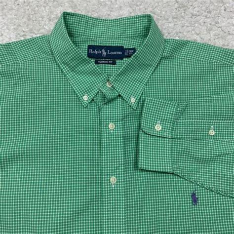 Rare Checkered Pony Polo Ralph Lauren 2XB Big And Tall L S Shirt