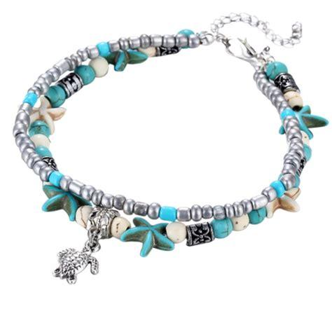 Retro Boho Colorful Beads Bangle Bracelet Women Ethnic Charm Multilaye