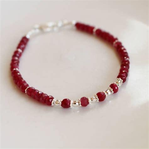 Ruby Gemstone Gemstone Jewelry Bracelet 7 8 Inch
