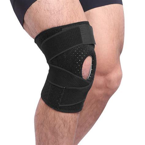Unisex Knee Brace Elastic Fastener Support Sports Kneecap Stabilizer A
